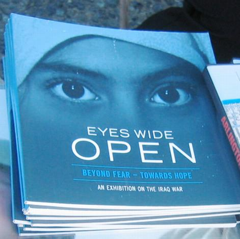"Book ""Eyes Wide Open"" on display."
